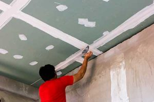 Take advantage of winter to do all drywall repairs